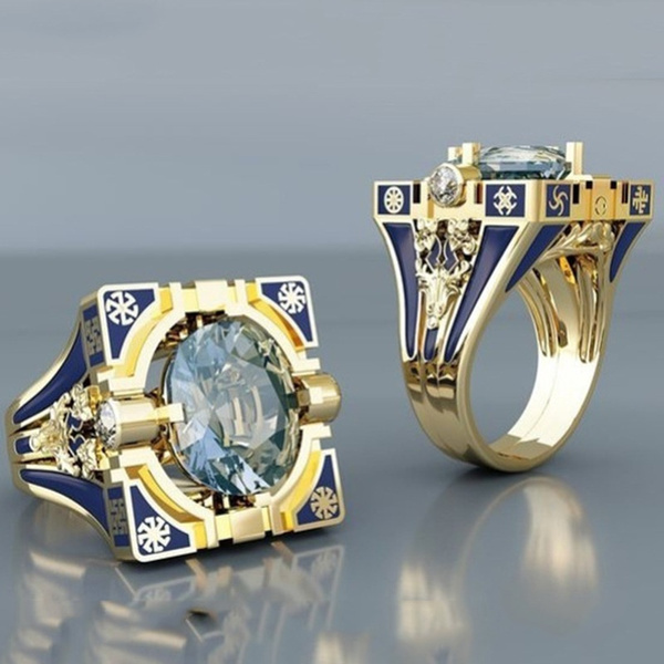 DIAMOND, gold, Engagement Ring, aquamarinering