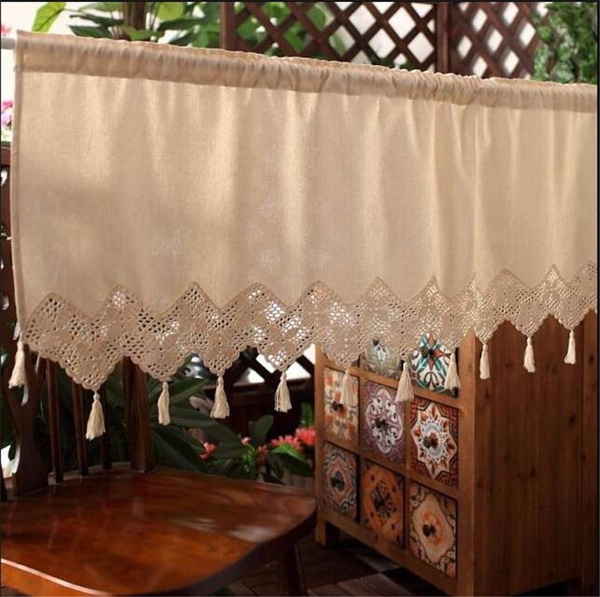 Kitchen & Dining, Cafe, Lace, windowcurtainvalance