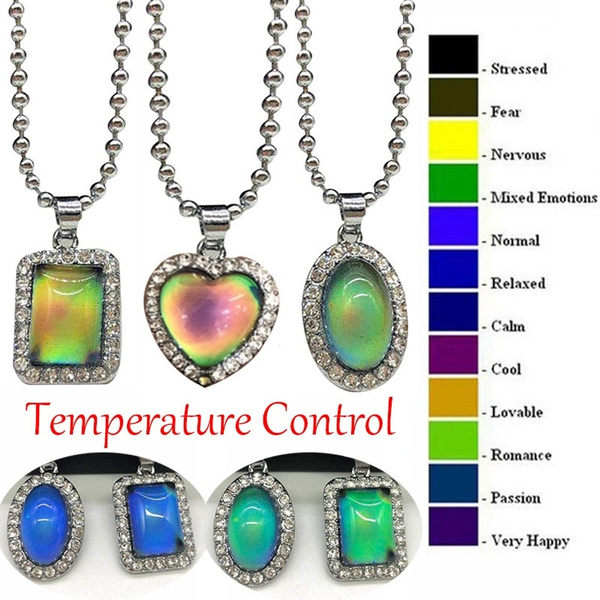 Jewelry, temperaturecontrol, moodnecklace, Necklaces For Women