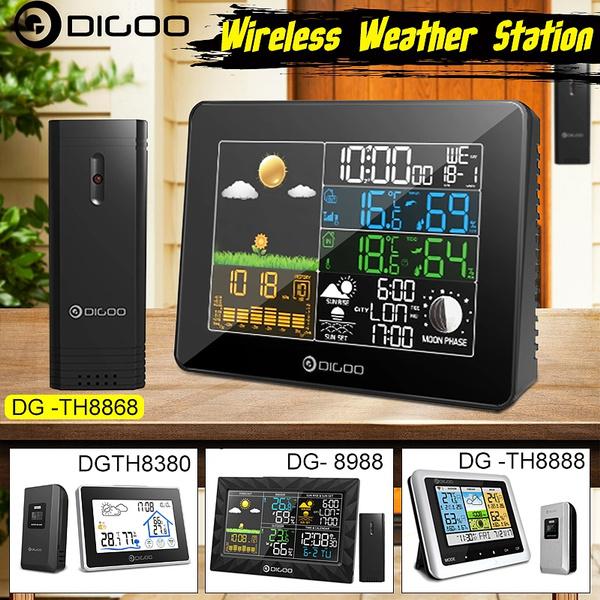 Outdoor, weather forecast, réveil, Clock