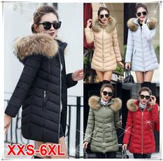 Plus Size, Invierno, Long Coat, Coat