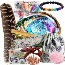 Bracelet, sagekit, smudgingkitwithabaloneshell, metaphysical