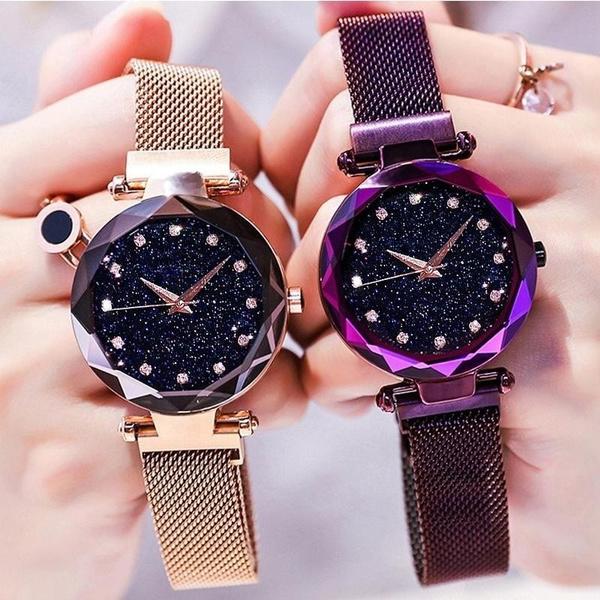 Steel, Fashion, Waterproof Watch, gold