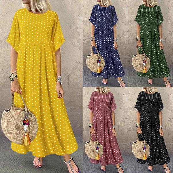 Summer, dressesforwomen, pleated dress, long dress