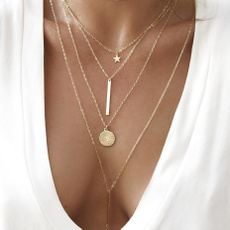 multilayernecklace, Chain Necklace, Jewelry, Chain