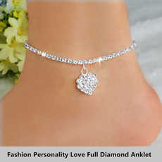 Charm Bracelet, DIAMOND, ankletsforwomen, Anklets
