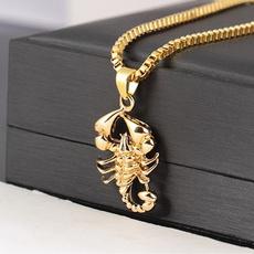 Men Jewelry, scorpion, Jewelry, gold