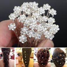 Bridesmaid, Flowers, flowerhairclip, Beauty