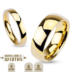 goldplated, 8MM, coupleweddingring, Joyería