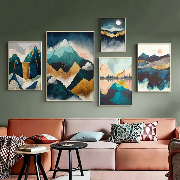 art print, Mountain, posters & prints, art