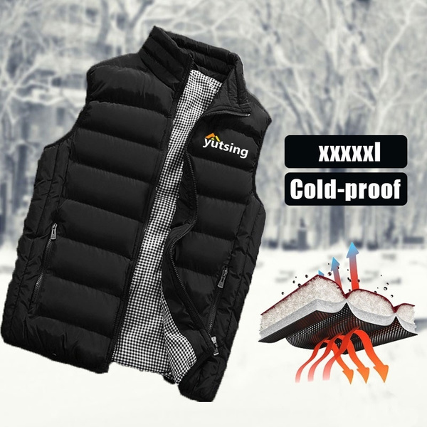 padded, Vest, Winter, Men