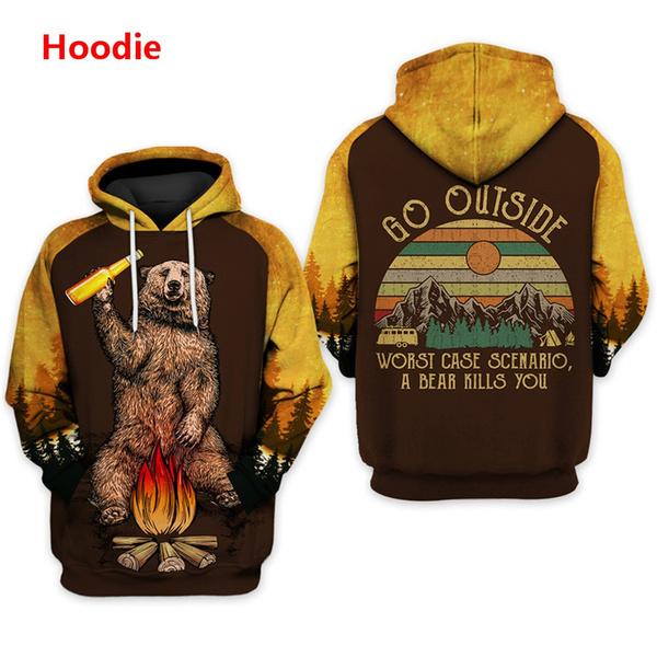 Hoodies, Fashion, bearscoat, camping