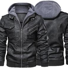 Casual Jackets, biker, Fashion, hoodedjacket