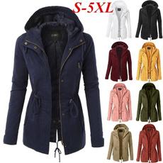 Turn-down Collar, jacketforwomen, Plus Size, Long Sleeve