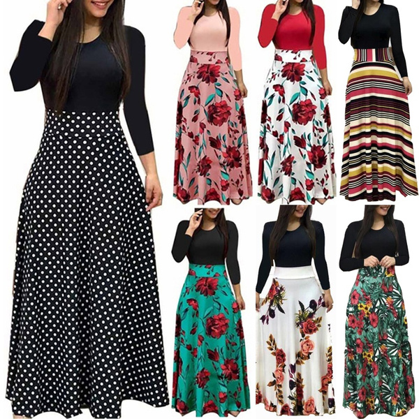 high waist, Plus Size, long sleeve dress, Sleeve