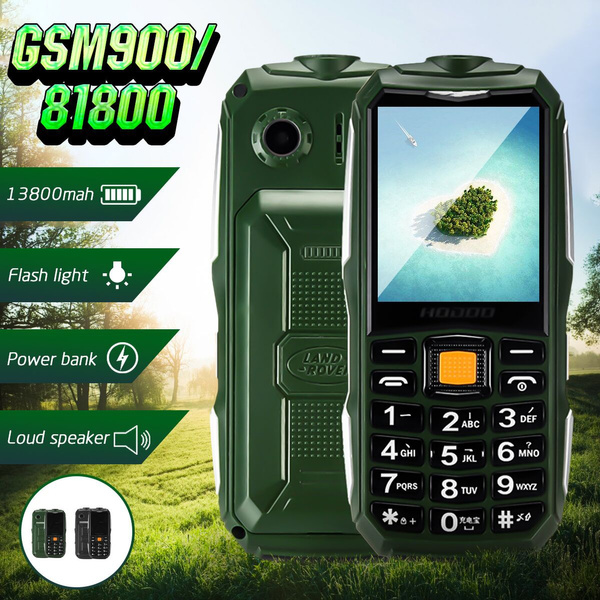2 6 Inch Gsm900 1800 13800mah Long Standby Mobile Phones Shockproof Dustproof Dual Sim Card Cell Phone With Torch Big Speaker Power Bank Loud Speaker Function For Old People Wish