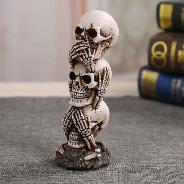halloweencreativegift, skeletonhead, skull, Ornament