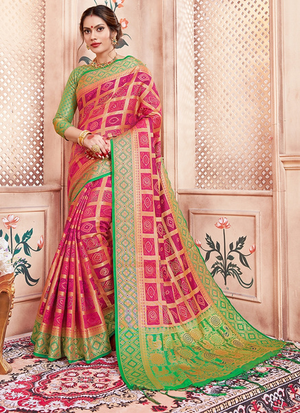 pink, saree, sari, woven