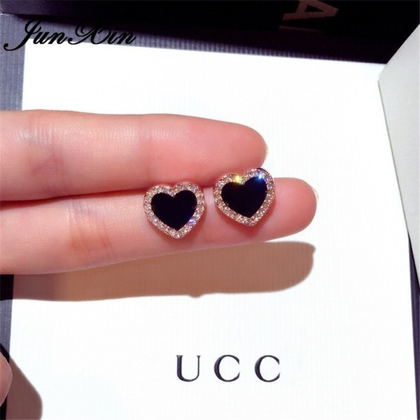 Heart, Stud, DIAMOND, Jewelry