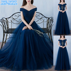 Blues, gowns, Plus Size, Evening Dress
