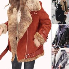 Fashion, zipperjacket, thickeningcoat, Women's Fashion