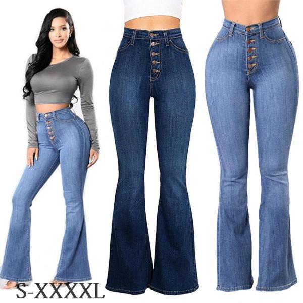 Women Pants, bellbottomedpant, Plus Size, high waist