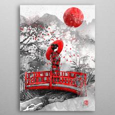 japanesehomedecor, japanesegeishagirl, Posters, japanesegirlpainting