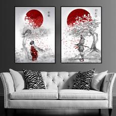 bedroom, japanesehomedecor, art, japanesewarriorwoman