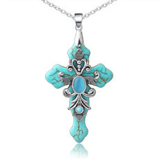 Blues, christianjewelry, Turquoise, Cross necklace