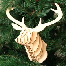 Wood, moose, Christmas, diyassembled