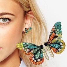 butterfly, Fashion, Beauty, Stud Earring