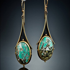 Turquoise, 925 sterling silver, Gemstone Earrings, wedding earrings