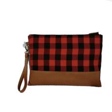 Fashion, zipperpurse, Bags, buffaloplaidbag