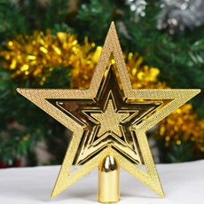 golden, Star, christmasdecorstar, Glitter