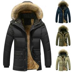padded, hooded, velvet, Winter