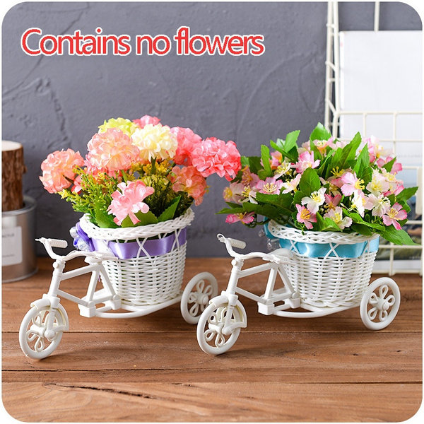 Bikes, Decor, rattanflowerbasket, Bicycle