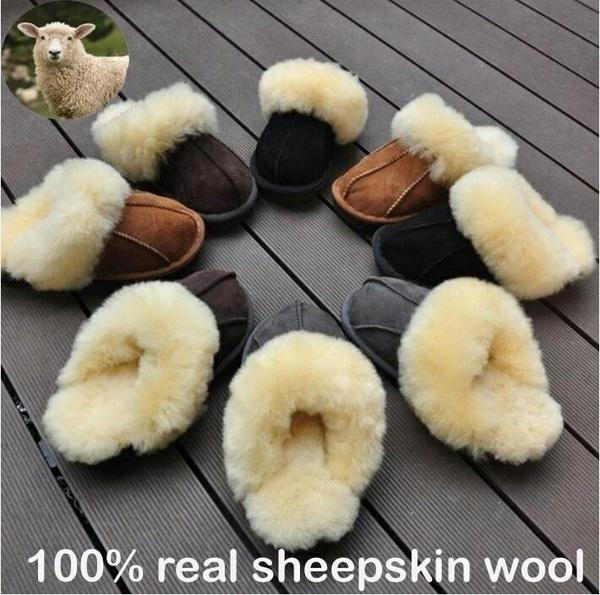 Flip Flops, sheep skin, fur, Winter