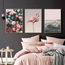 pink, decoration, flamingo, art