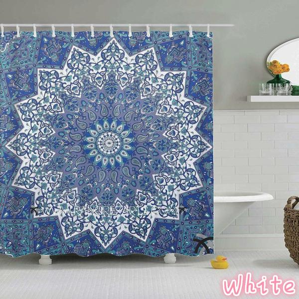 Bathroom, Flowers, art, Fabric