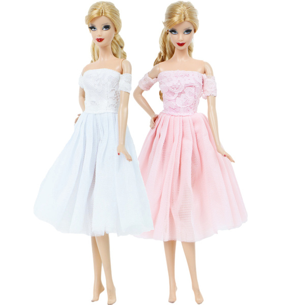 gowns, Lace, barbiedresse, Dress