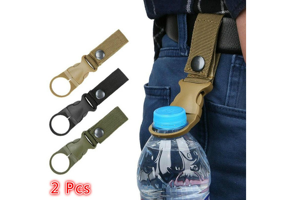 2XOutdoor Durable Water Bottle Holder Carabiner Clip Camping Hiking Buckle /&HoGD