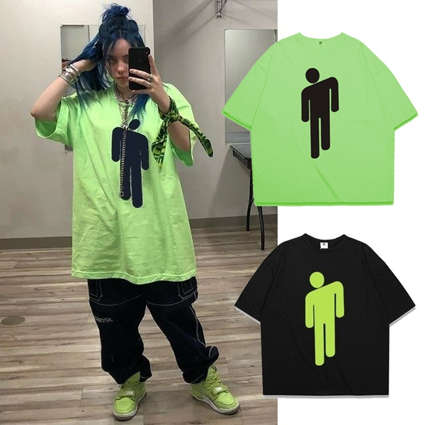 Unisex Billie Eilish Blohsh Loose Solid Color Short Sleeve T Shirt Xs 4xl Wish