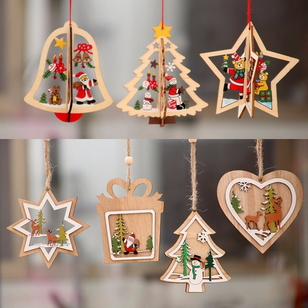 christmastreependant, Christmas, Gifts, Wooden