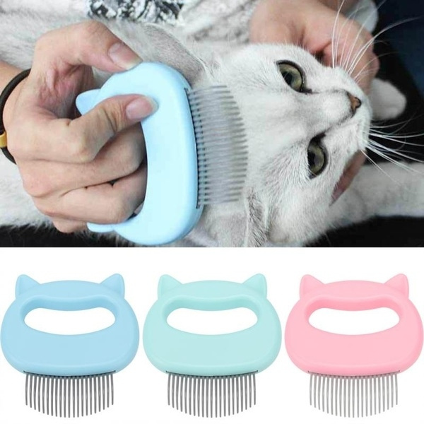 2019 New Pet Cat Dog Hairdressing Massage Shell Comb Grooming Hair Removal  Shedding Cleaning Brush | Wish