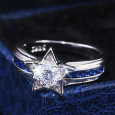 Star, wedding ring, giftring, fashion ring