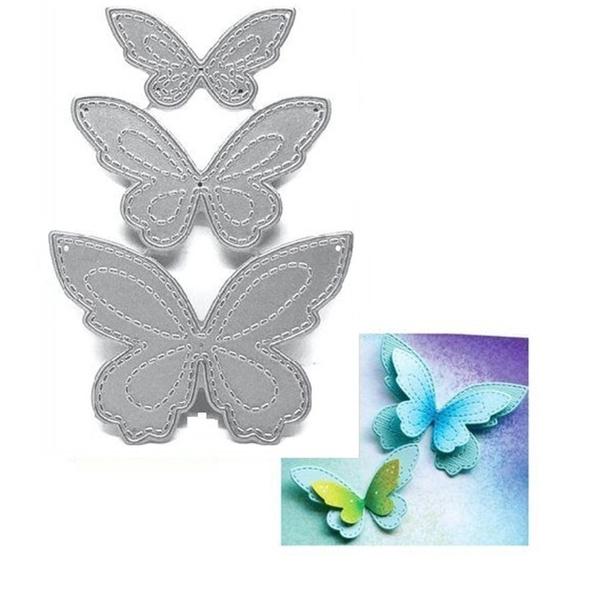 butterfly, stencil, Scrapbooking, metalcuttingdie