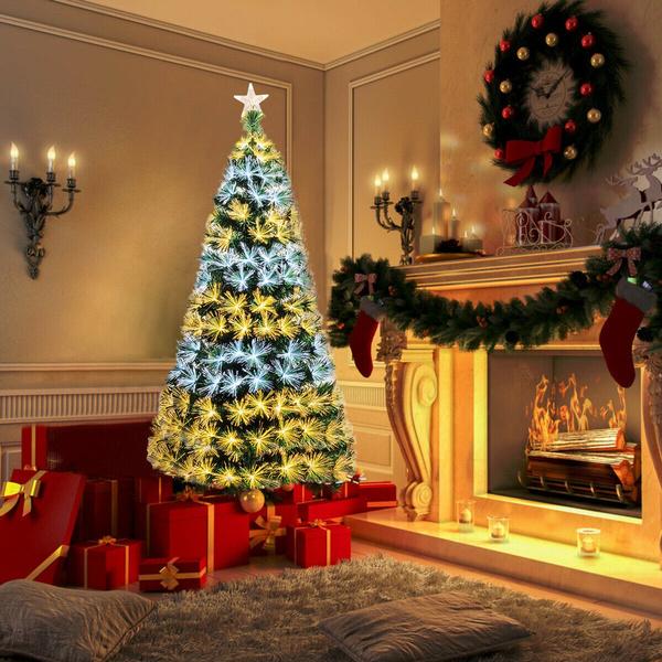 Fiber, Christmas, lights, Tree