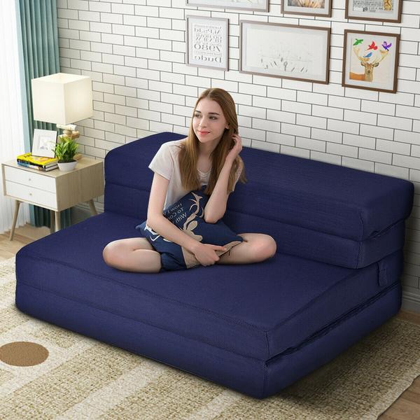 Queen Size 4 Quart Fold Foam Folding, Queen Size Folding Sofa Bed