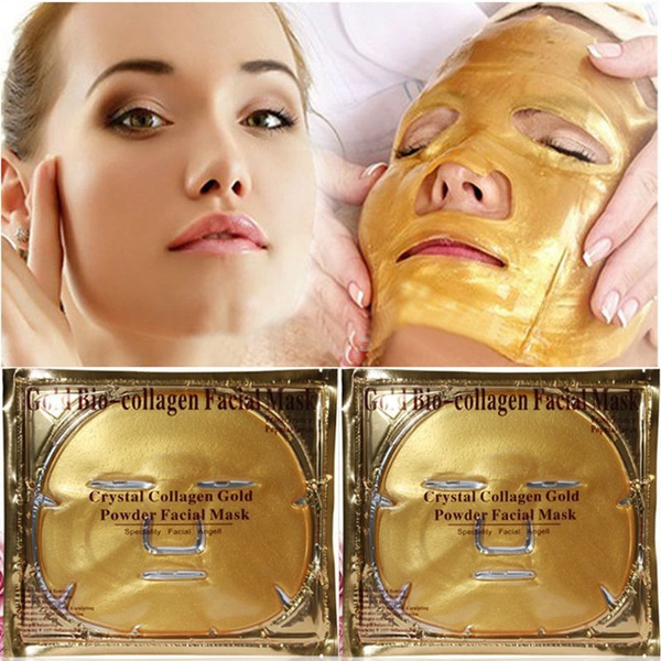 Jewelry, gold, collagen, Masks