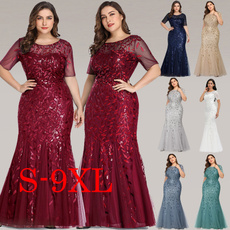 Plus Size, Dress, short sleeves, robedesoirée